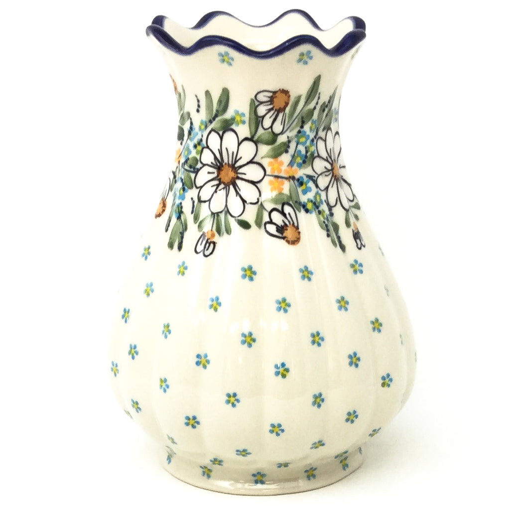 Scalloped Vase in Spectacular Daisy