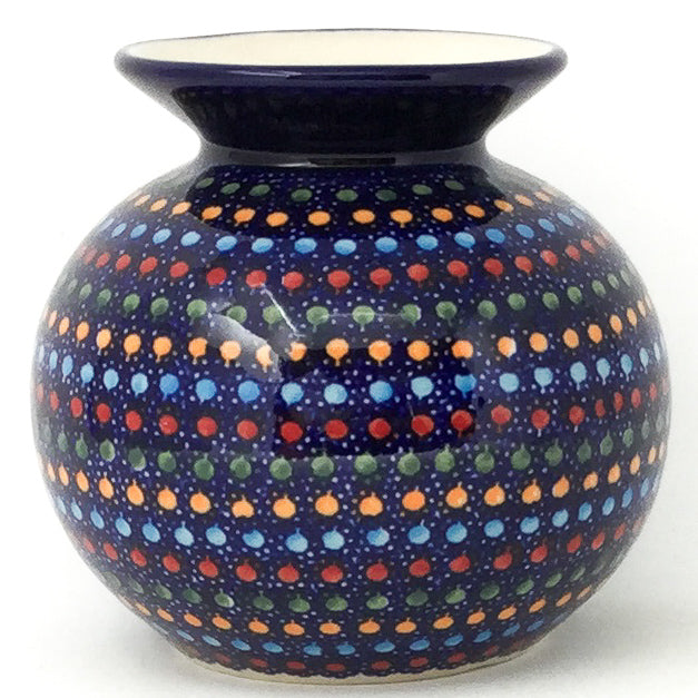 Round Vase in Multi-Colored Dots