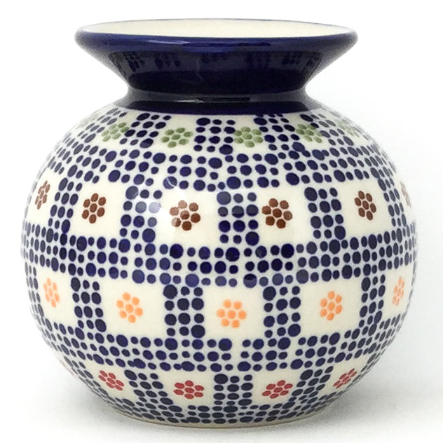 Round Vase in Modern Checkers