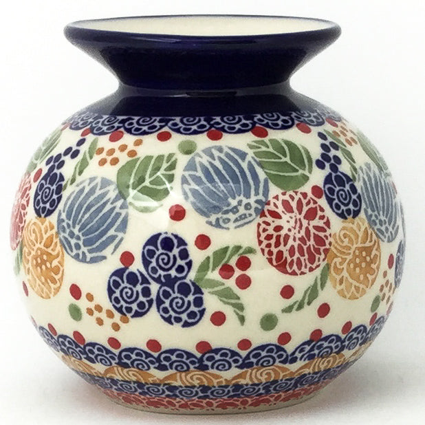 Round Vase in Modern Berries