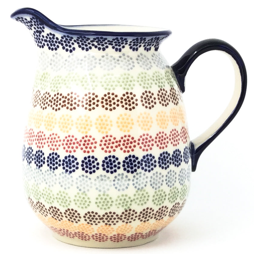 Pitcher 1 qt in Modern Dots
