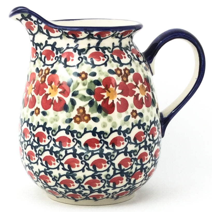 Pitcher 1 qt in Red Poppies