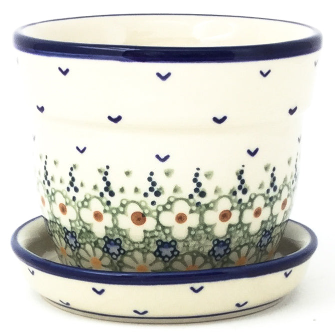 Sm Flower Pot w/Plate in Spring