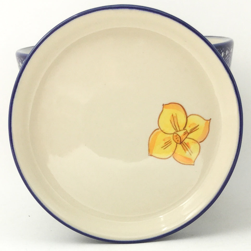 Lg Flower Pot w/Plate in Daffodils