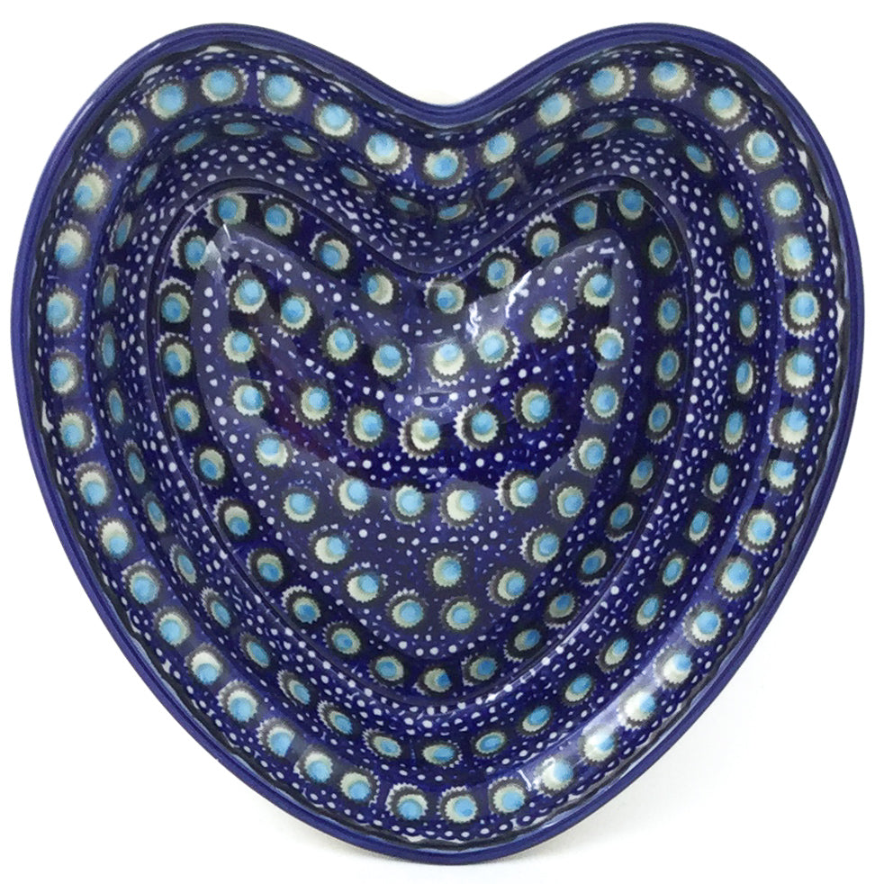 Lg Hanging Heart Dish in Blue Moon