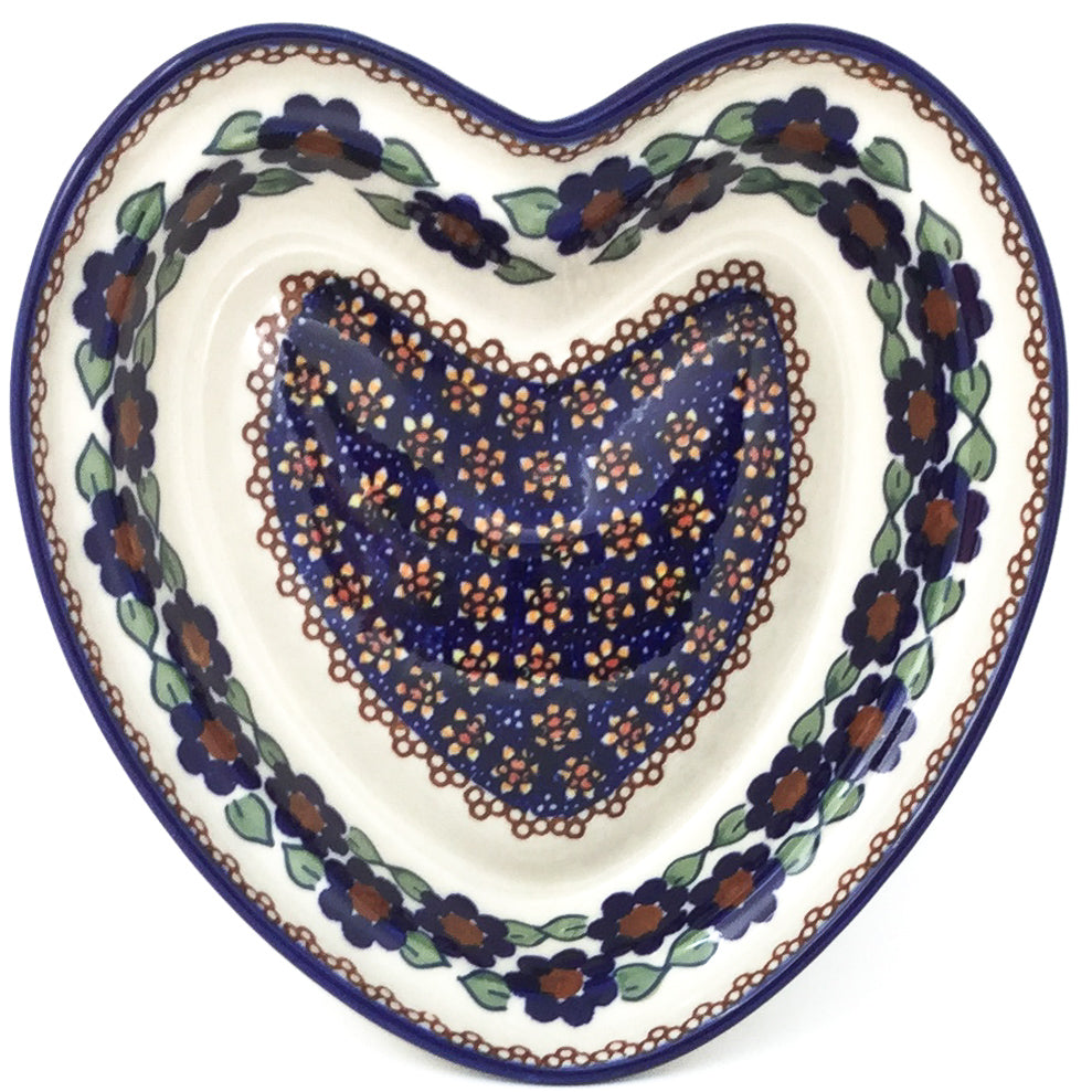 Lg Hanging Heart Dish in Petunia
