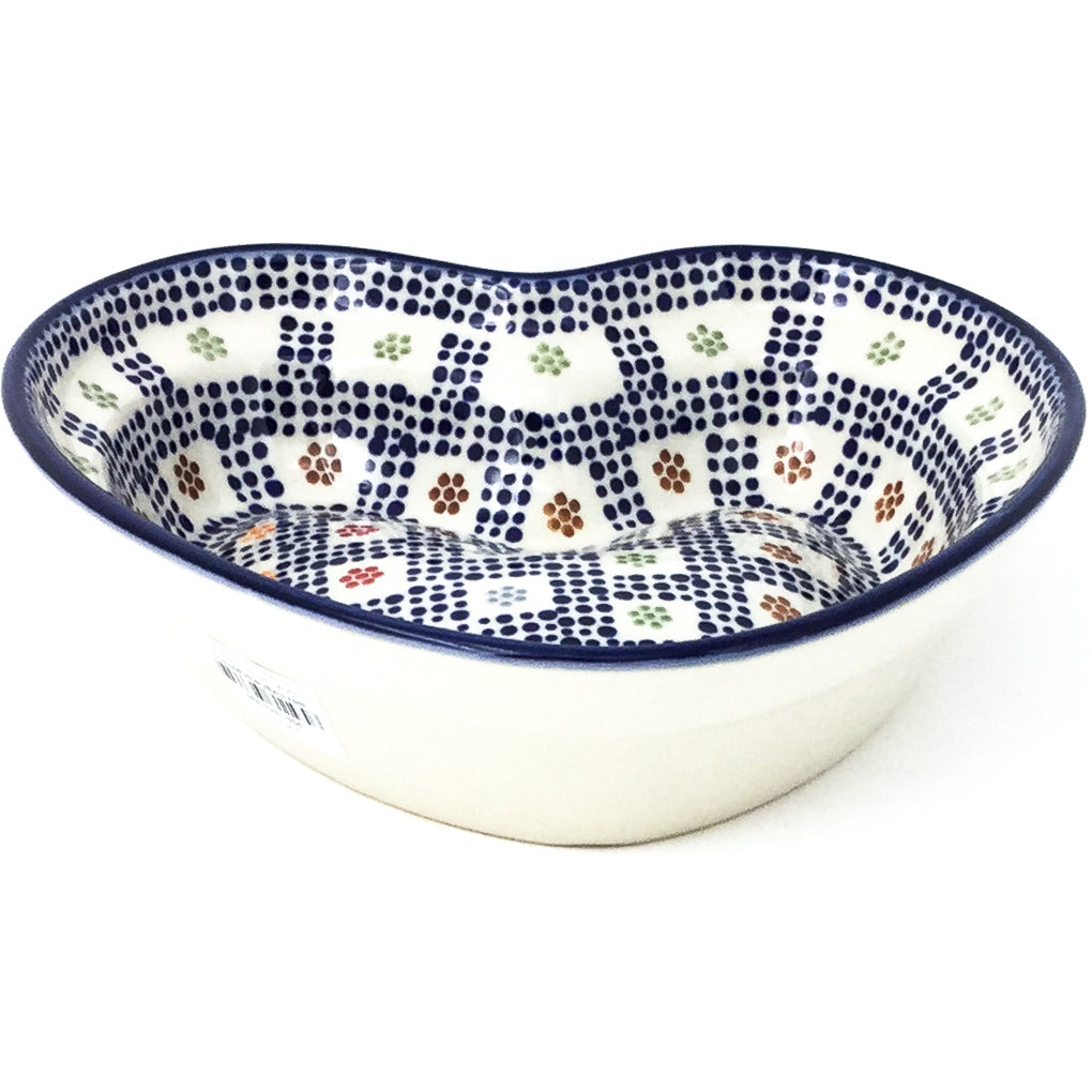 Lg Hanging Heart Dish in Modern Checkers