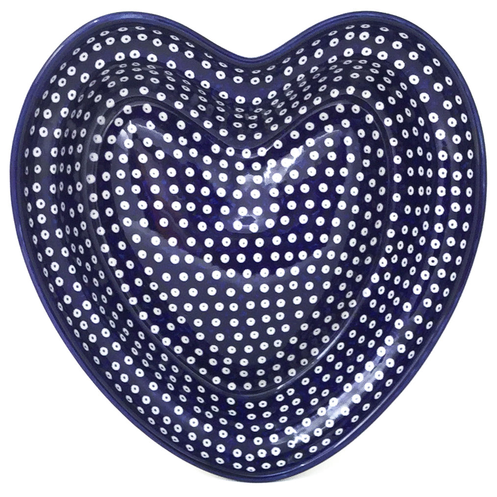 Lg Hanging Heart Dish in Blue Elegance