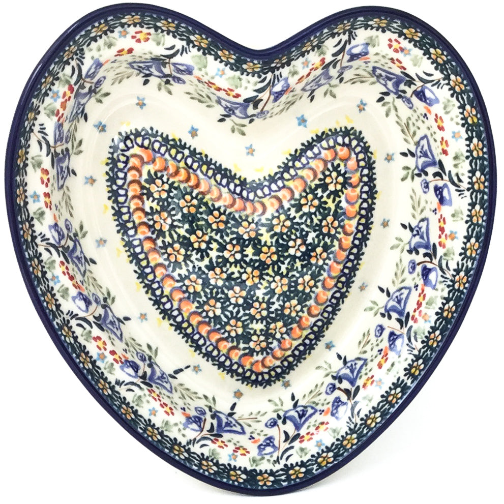 Lg Hanging Heart Dish in Autumn