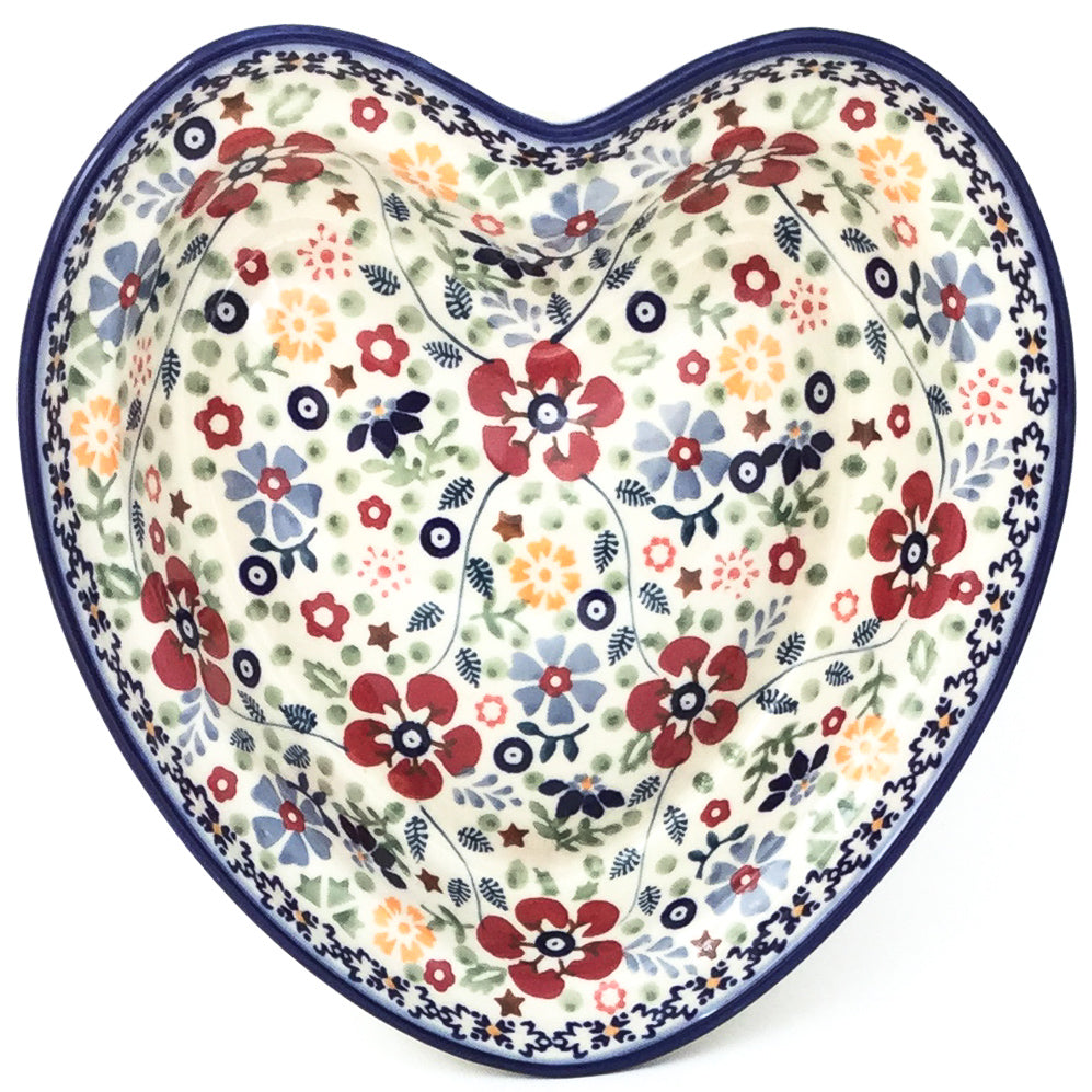 Lg Hanging Heart Dish in Summer Arrangement