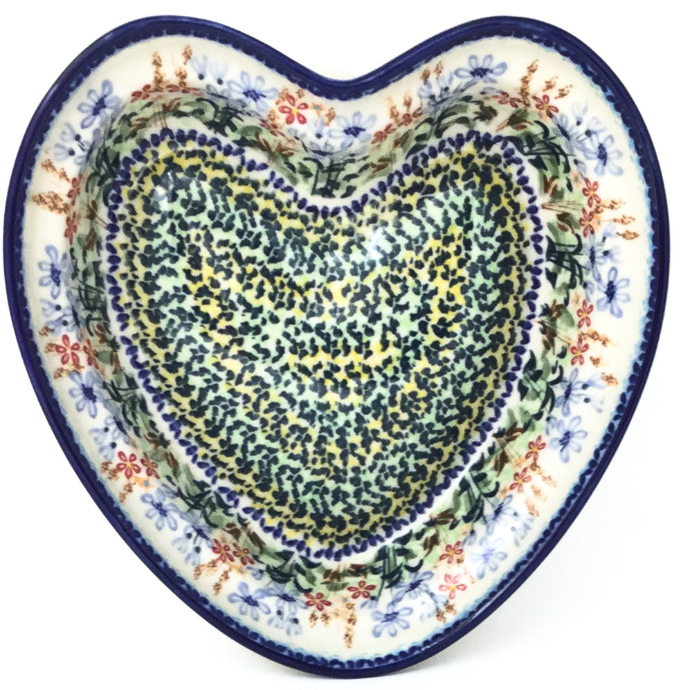 Lg Hanging Heart Dish in Country Spring