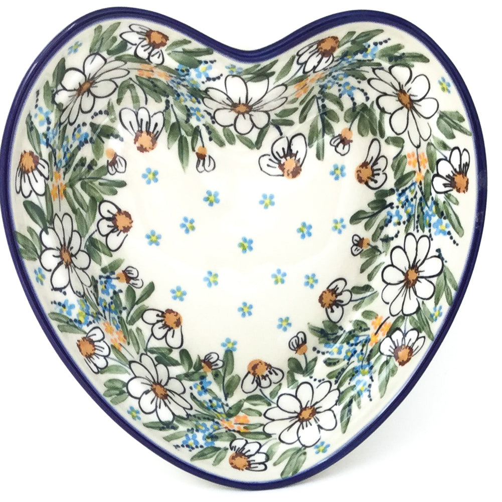 Lg Hanging Heart Dish in Spectacular Daisy