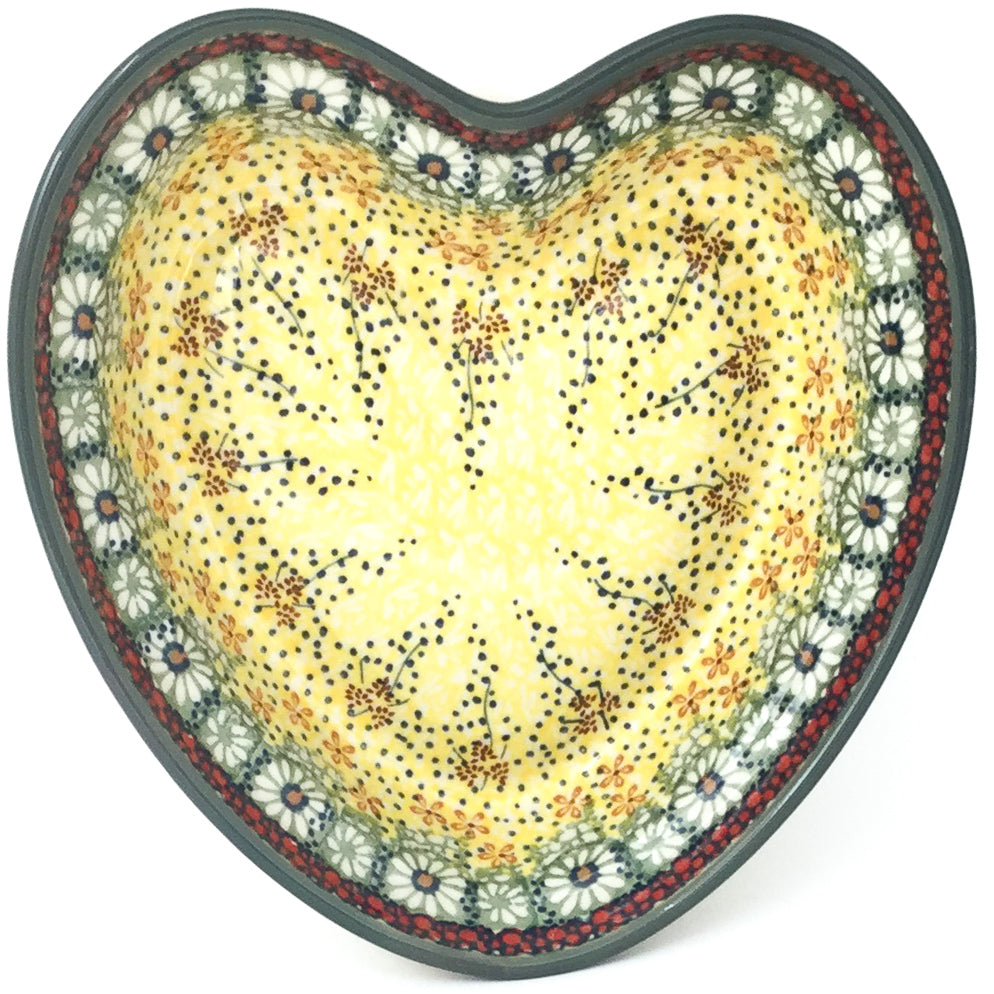 Lg Hanging Heart Dish in Cottage Decor