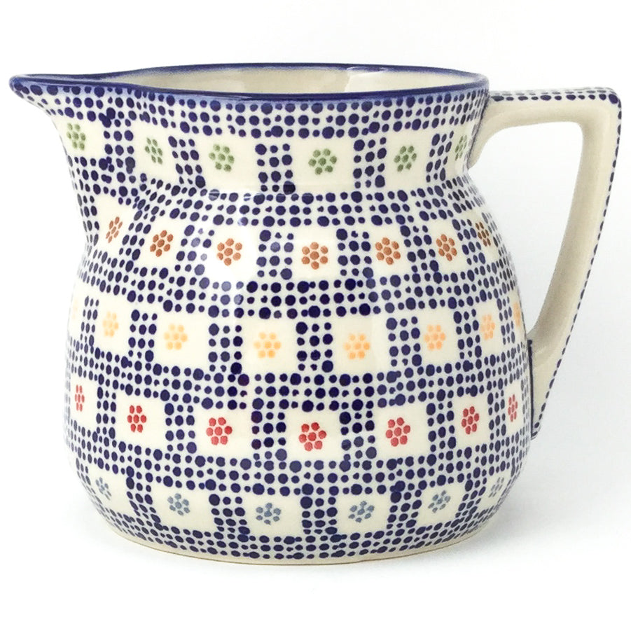 Wide Pitcher 1.7 qt in Modern Checkers