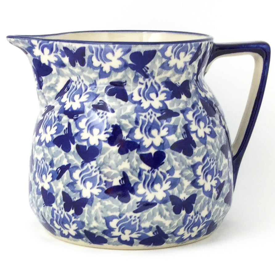 Wide Pitcher 1.7 qt in Blue Butterfly