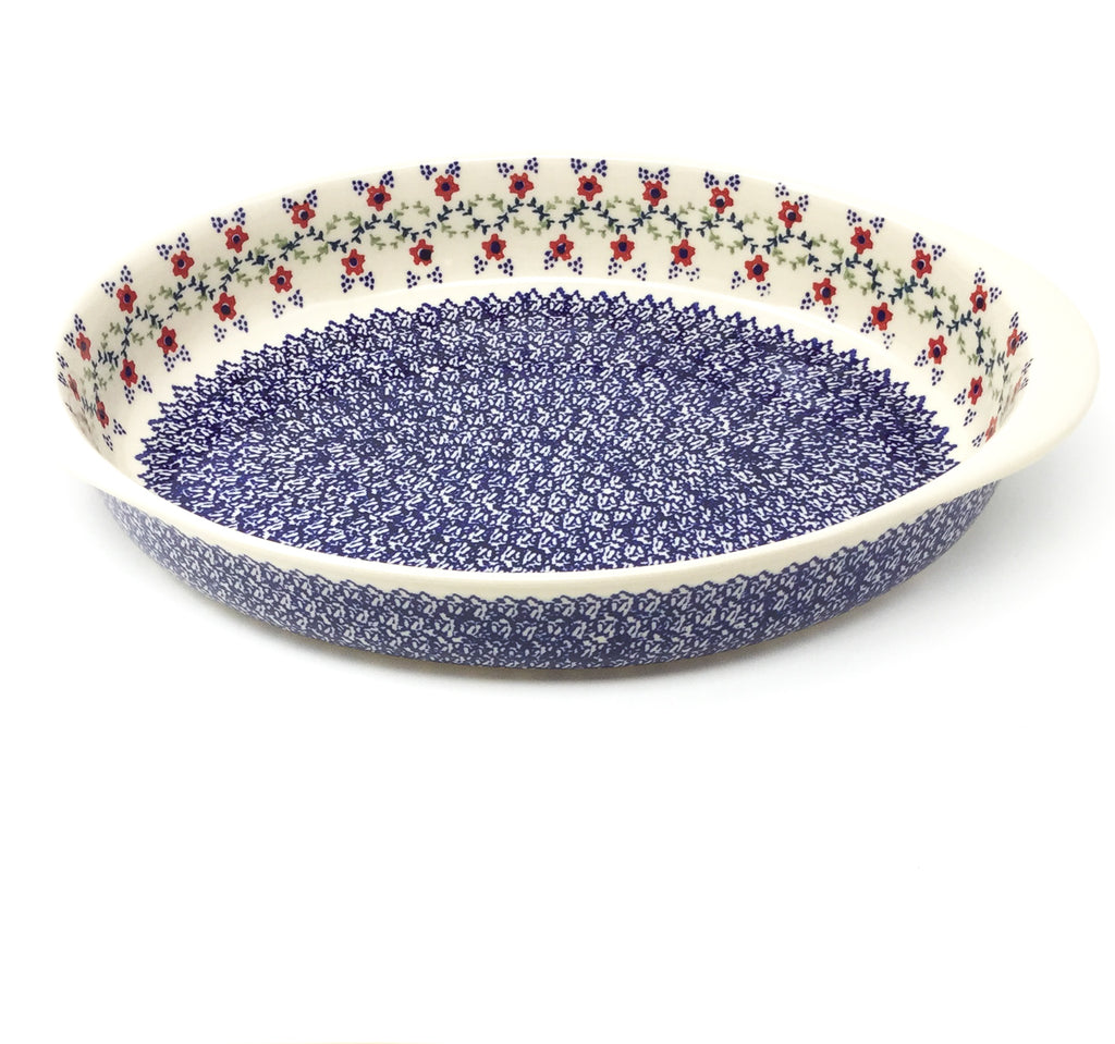 Lg Oval Baker w/Handles in Lattice