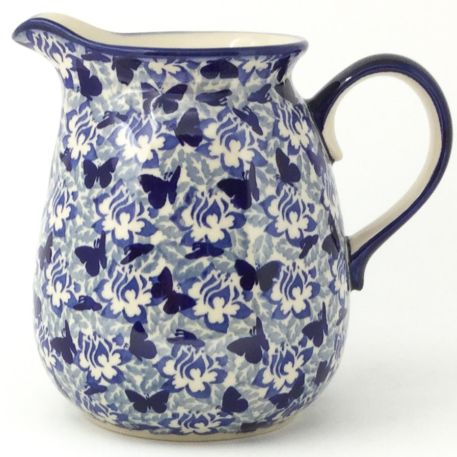 Pitcher 2 qt in Blue Butterfly