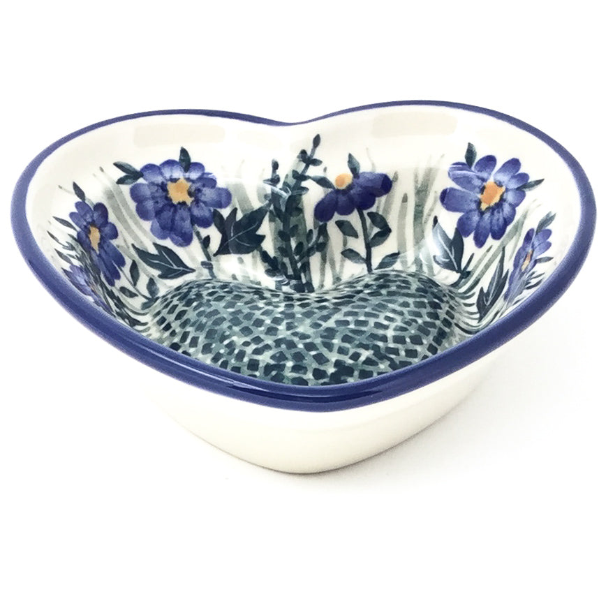 Sm Hanging Heart Dish in Wild Blue