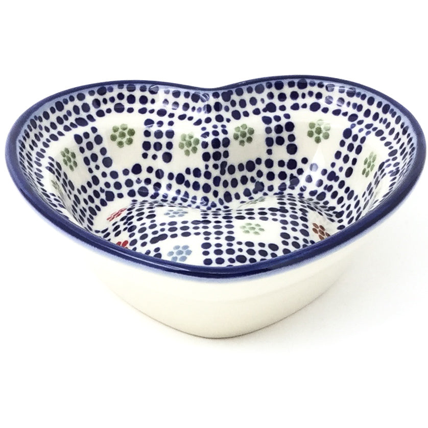 Sm Hanging Heart Dish in Modern Checkers