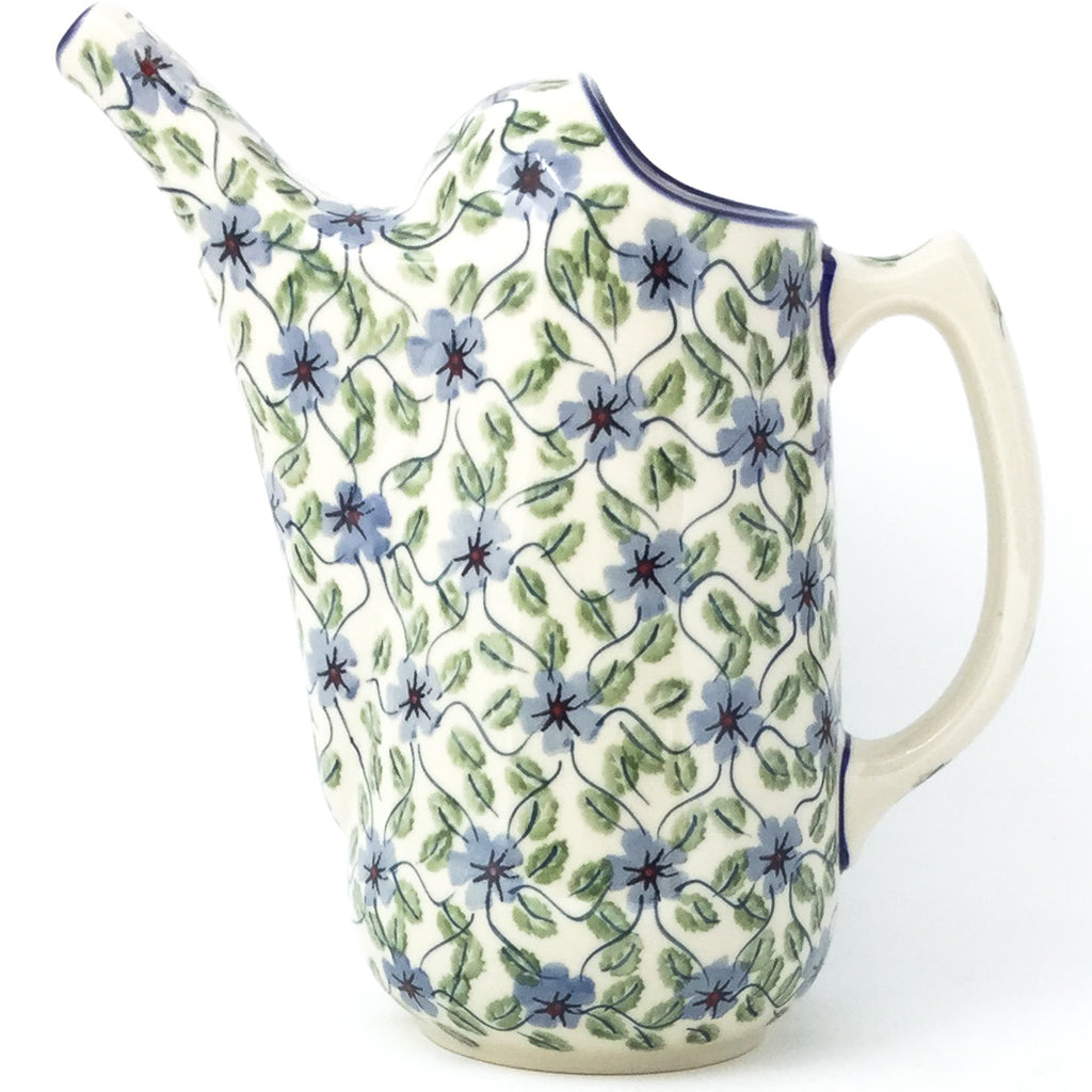 Watering Pitcher 2 qt in Blue Clematis