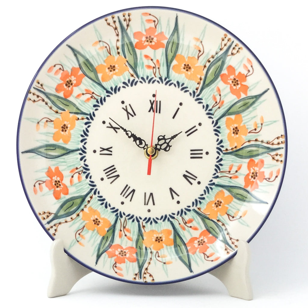 Plate Wall Clock in Sunshine Meadow