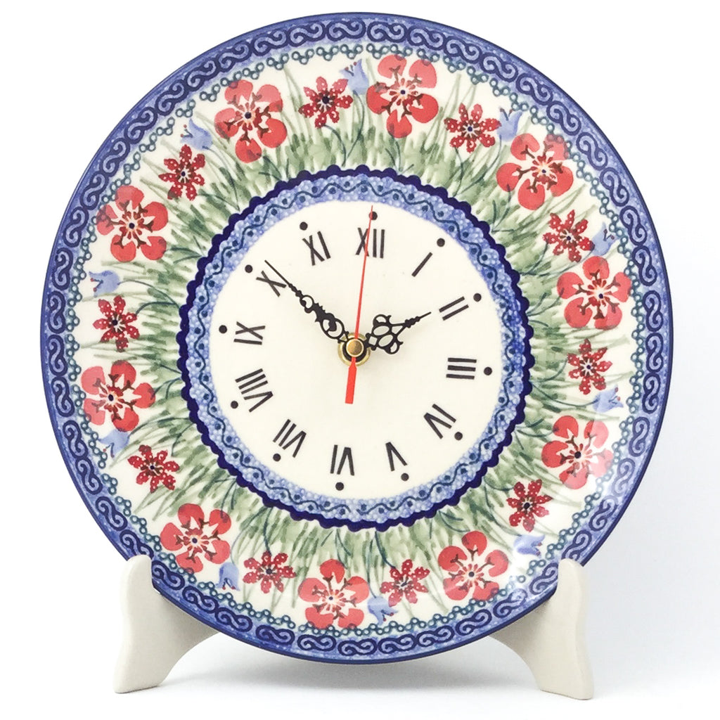 Plate Wall Clock in Spring Meadow