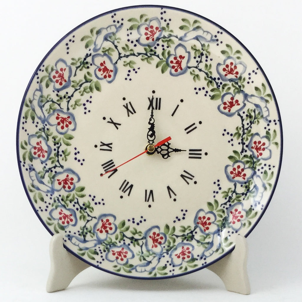 Plate Wall Clock in Japanese Garden