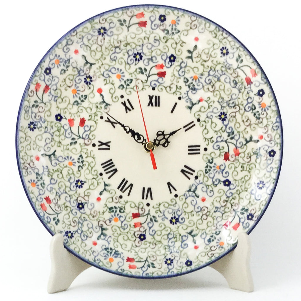 Plate Wall Clock in Early Spring