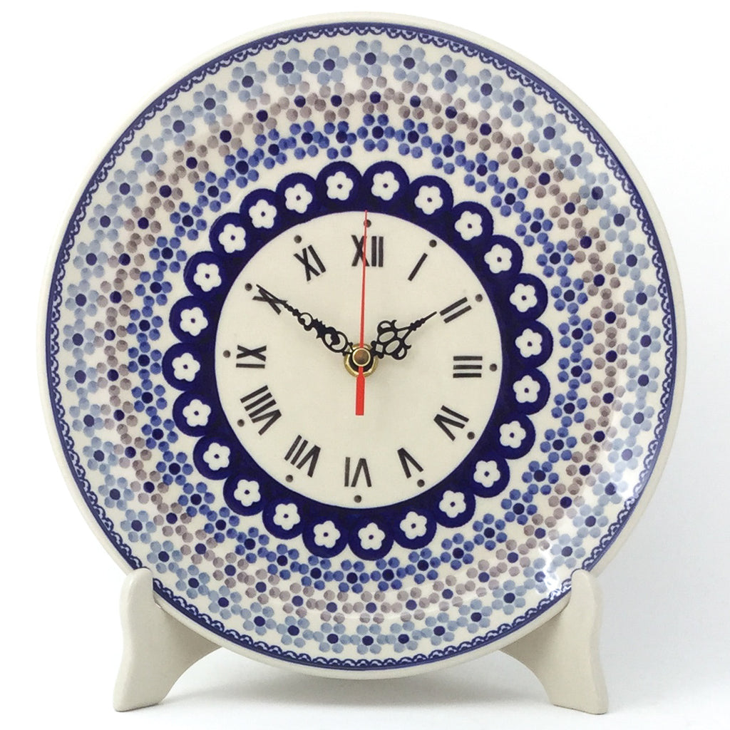 Plate Wall Clock in Simple Daisy