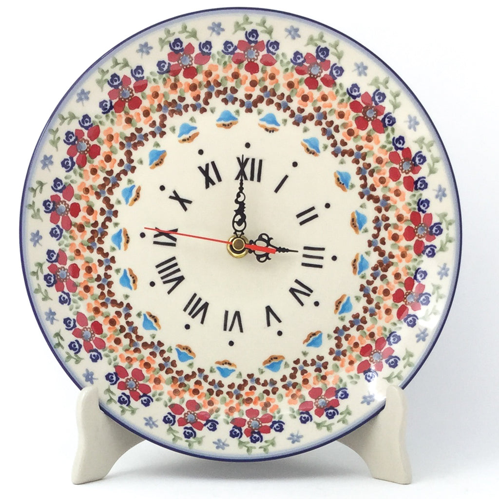 Plate Wall Clock in Summer