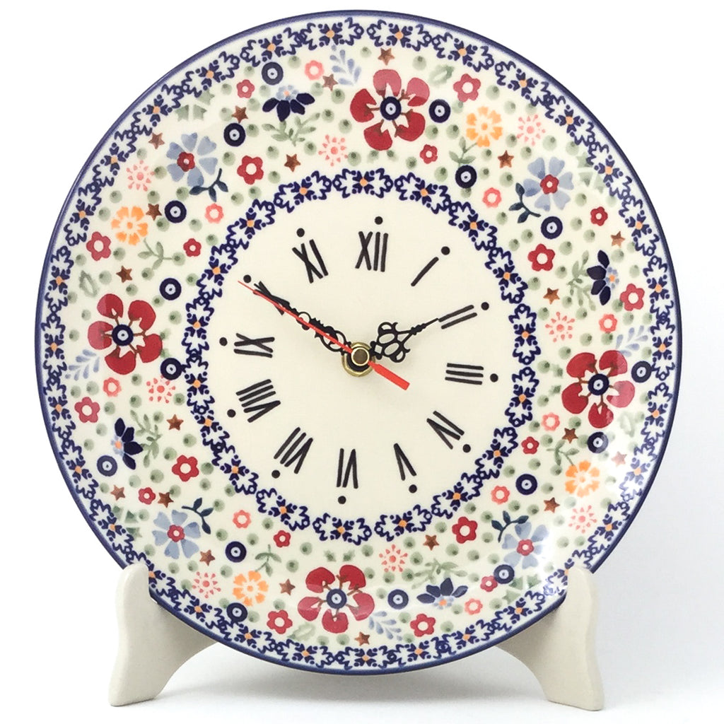 Plate Wall Clock in Summer Arrangement