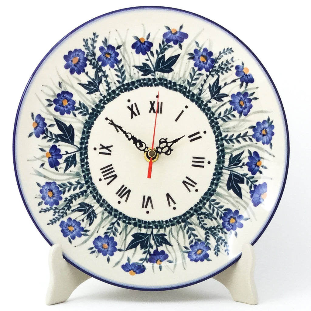 Plate Wall Clock in Wild Blue