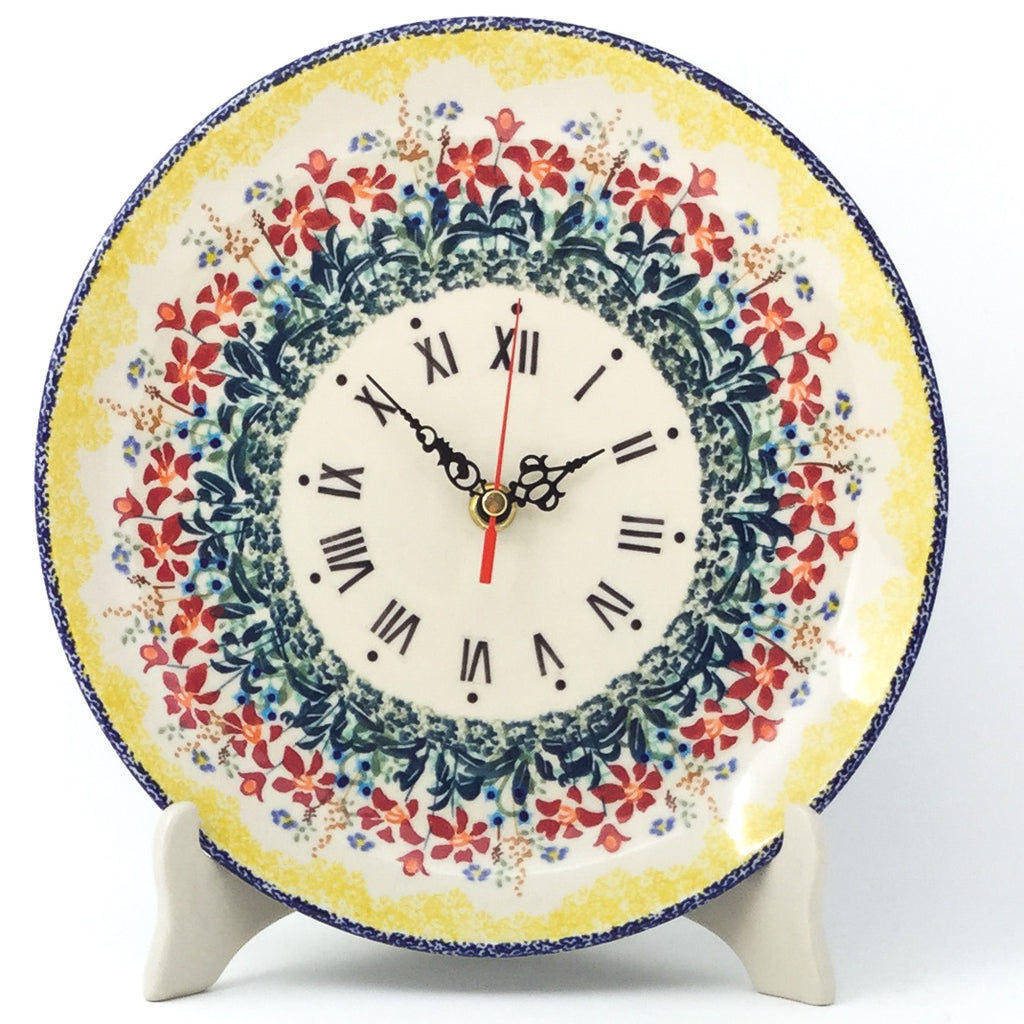 Plate Wall Clock in Country Summer