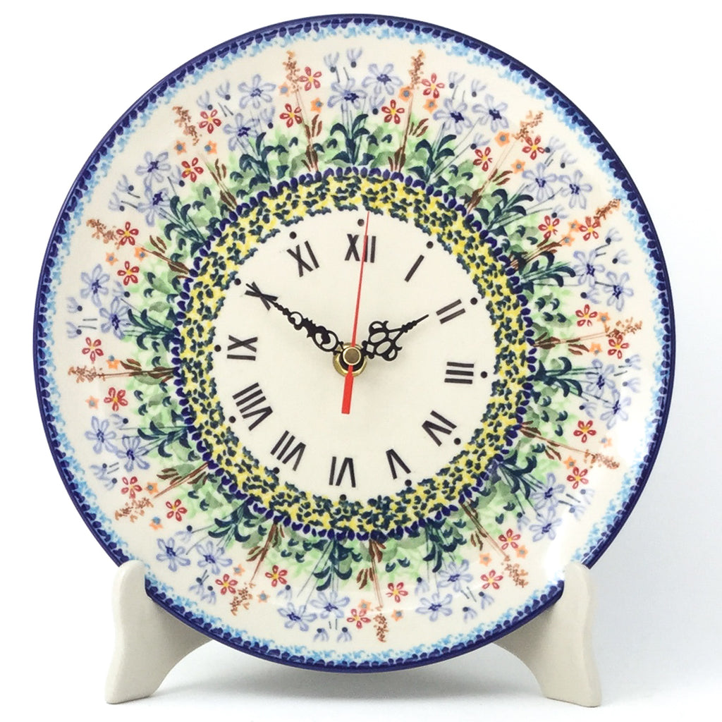 Plate Wall Clock in Country Spring