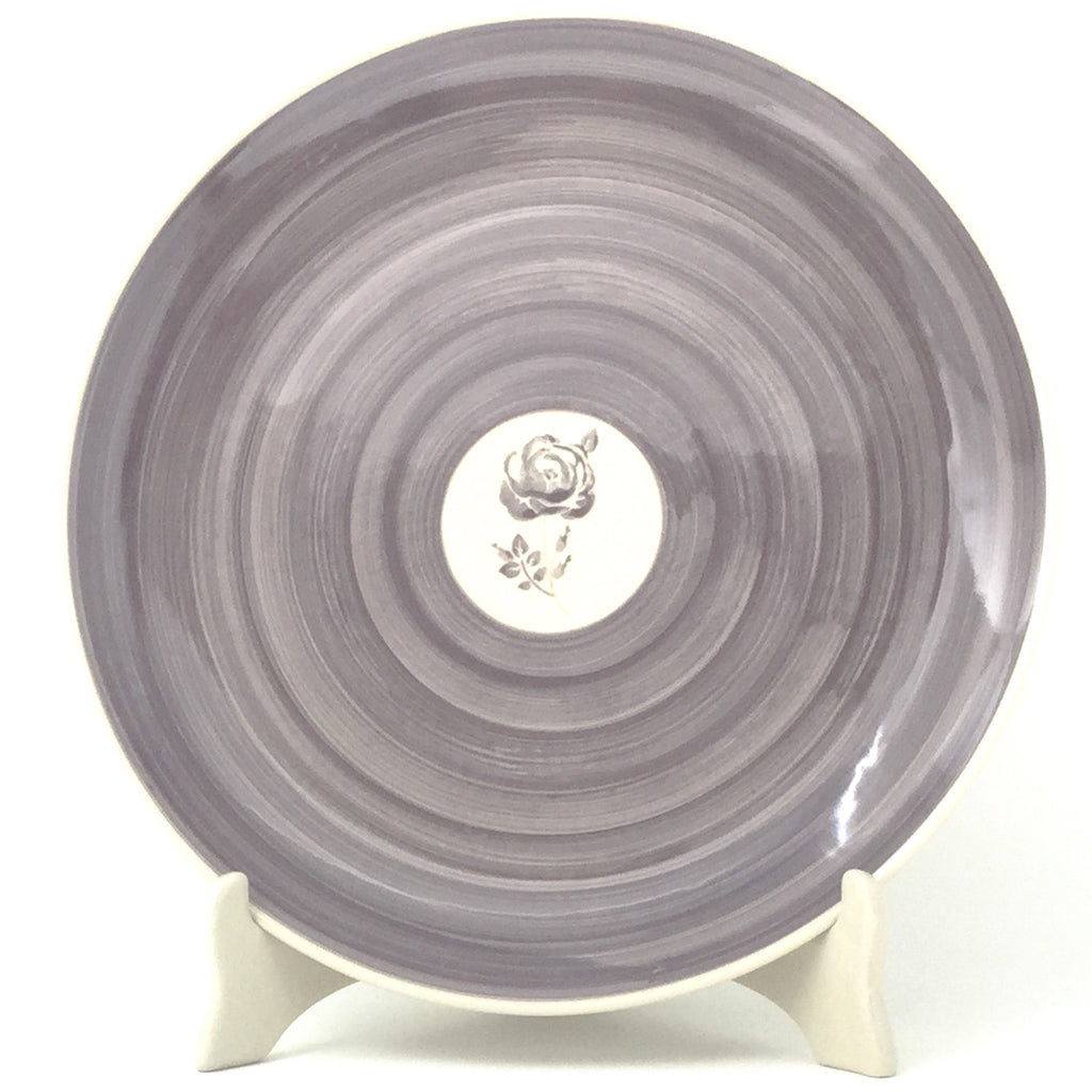 "Dinner Plate 11"" in Gray Rose"