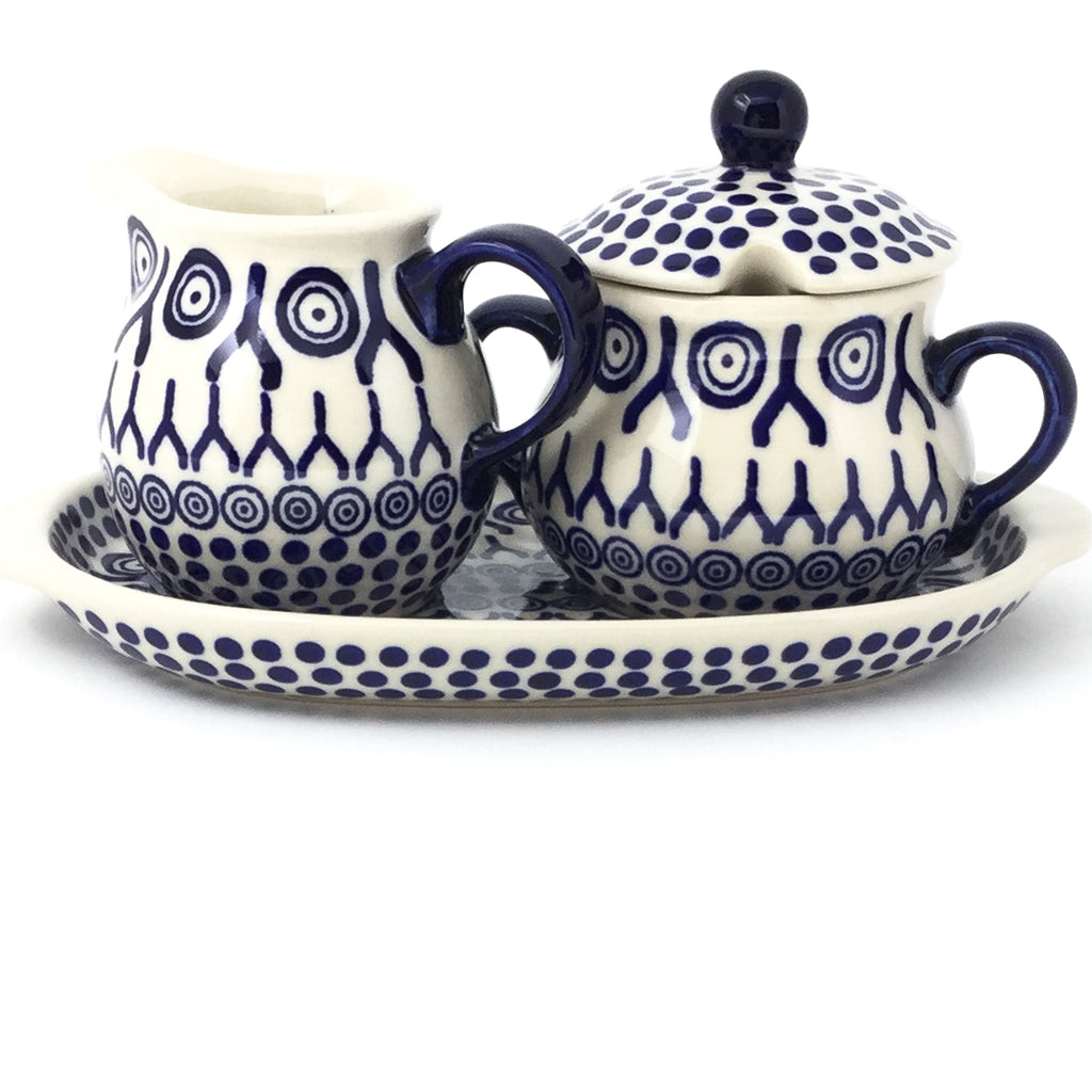 Creamer & Sugar Set w/Tray in Icelandic White