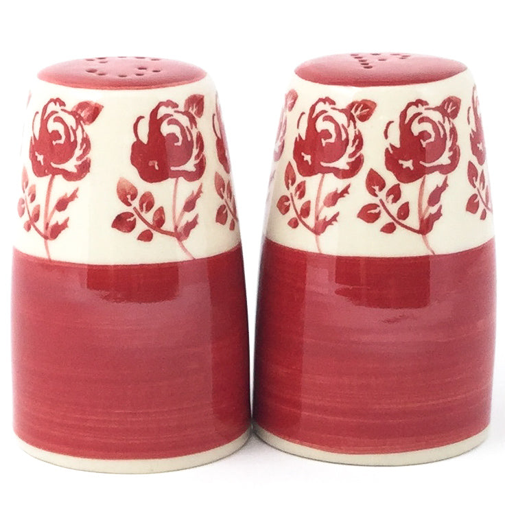 Salt & Pepper Set in Red Rose