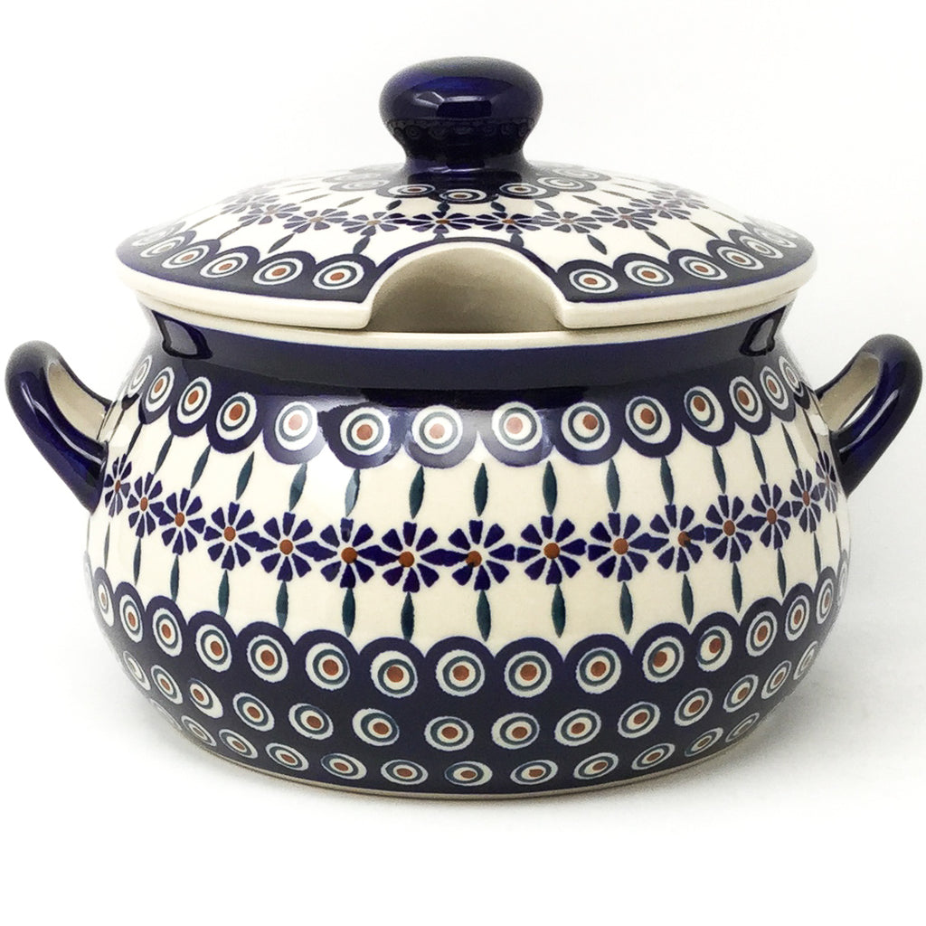 Covered Tureen 4 qt in Peacock