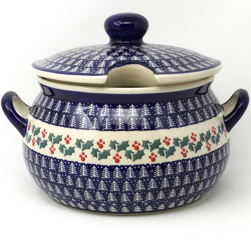 Covered Tureen 4 qt in Winter Holly