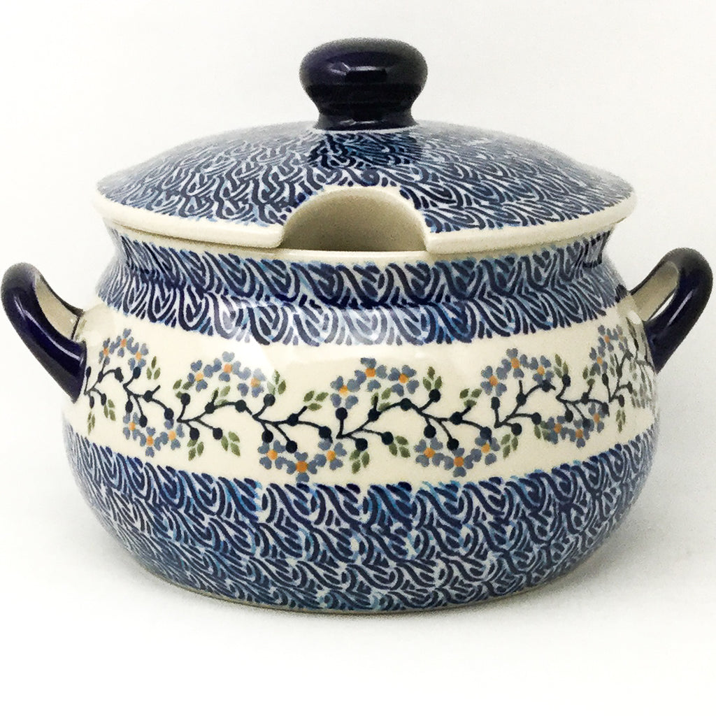 Covered Tureen 4 qt in Blue Meadow