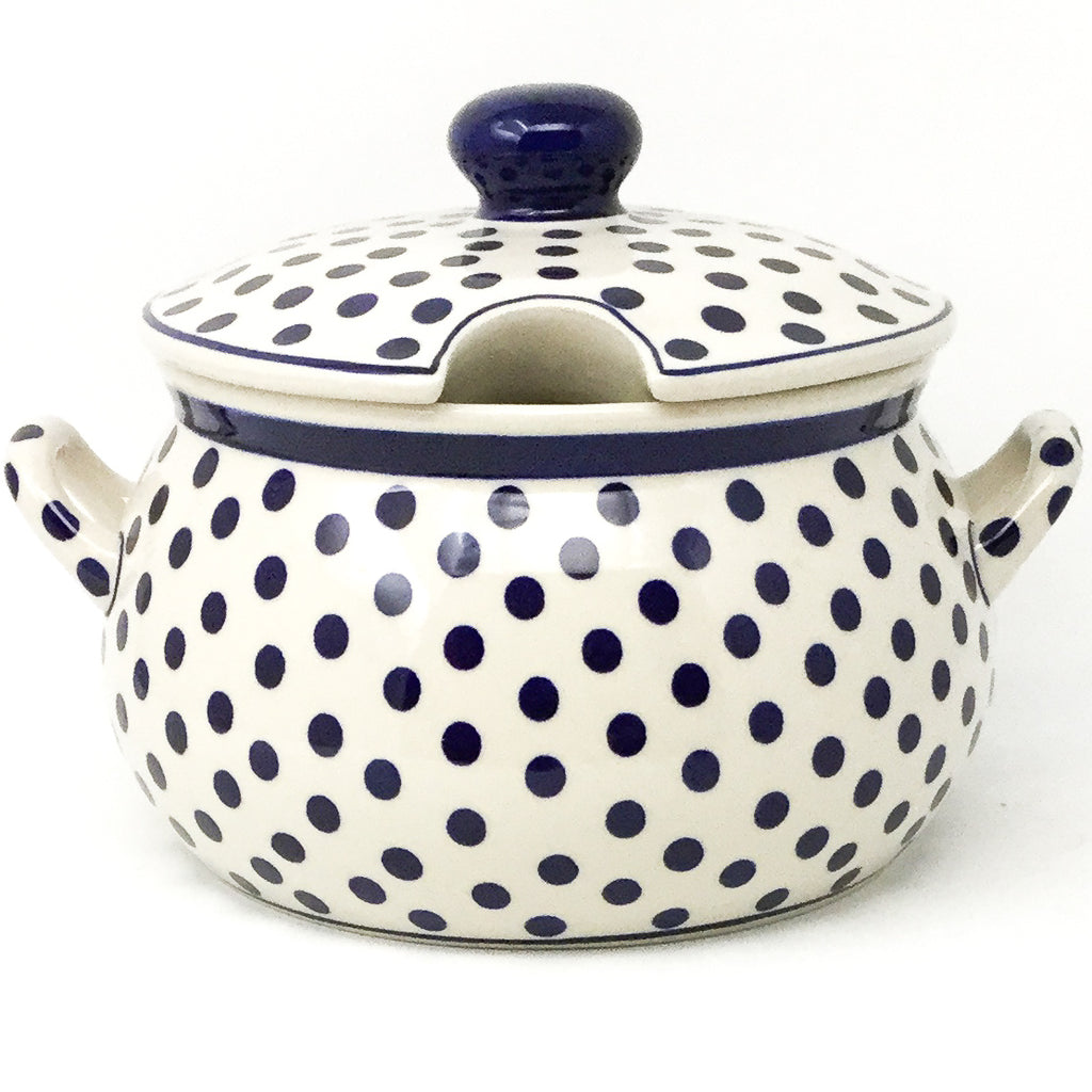 Covered Tureen 4 qt in Blue Polka-Dot