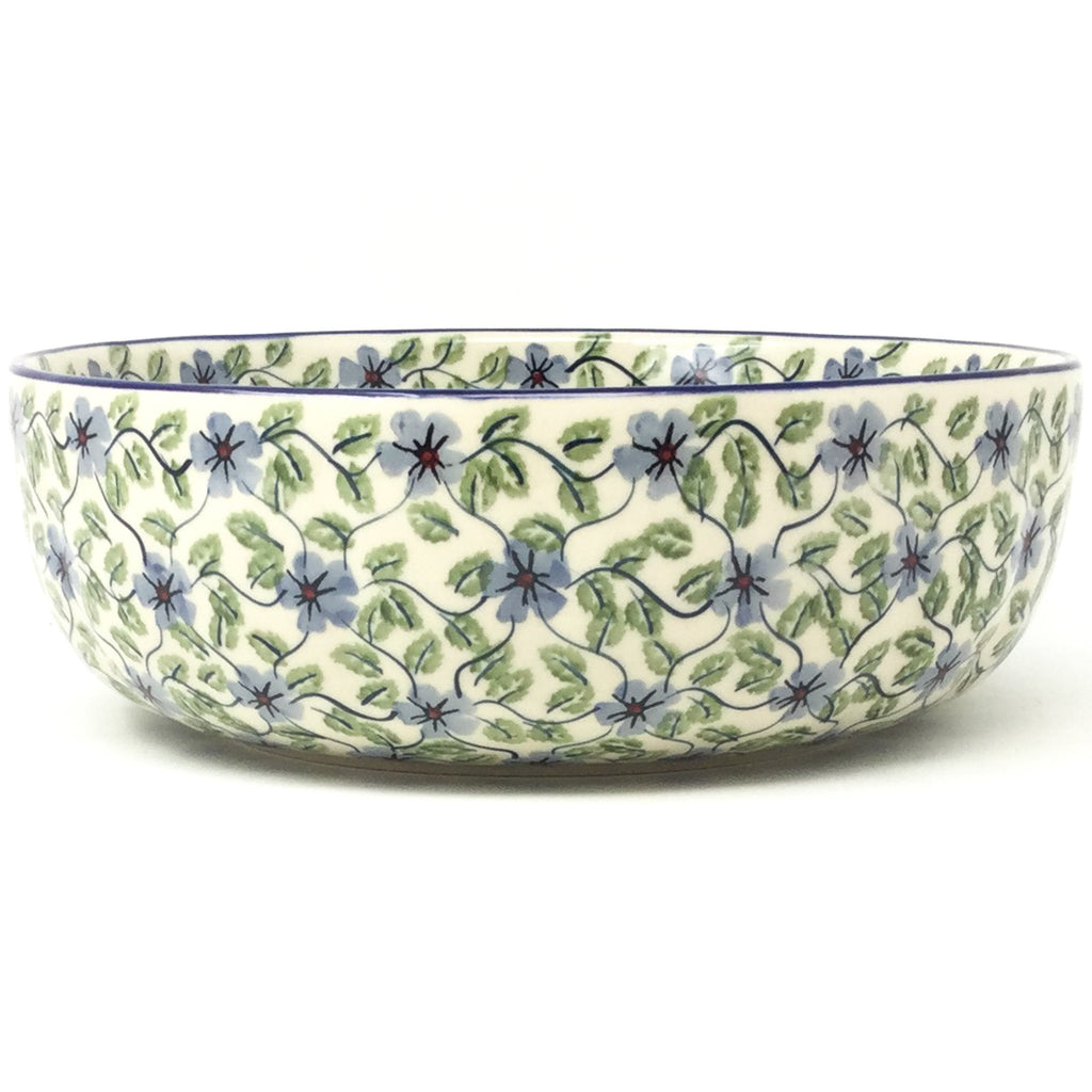 Family Shallow Bowl in Blue Clematis