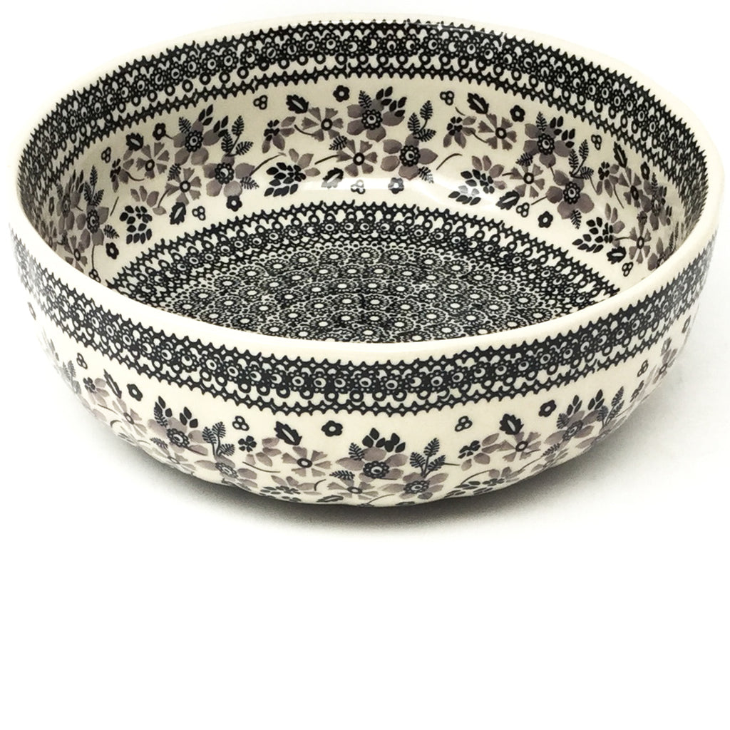 Family Shallow Bowl in Gray & Black