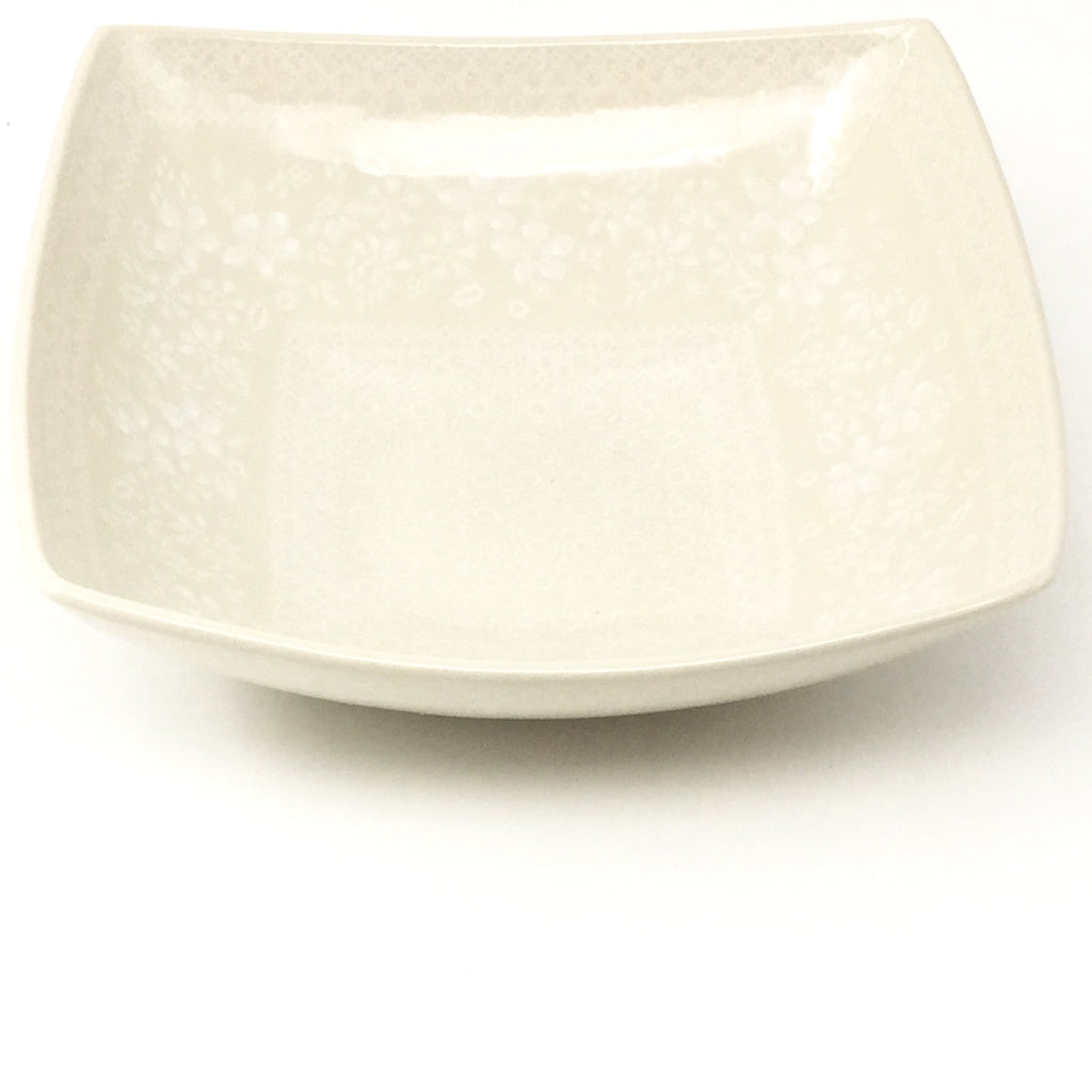Lg Nut Bowl in White on White
