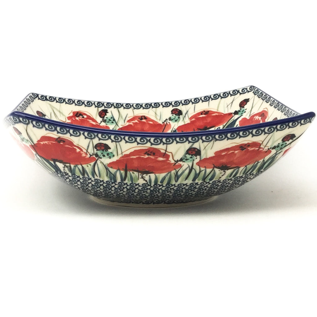 Lg Nut Bowl in Polish Poppy