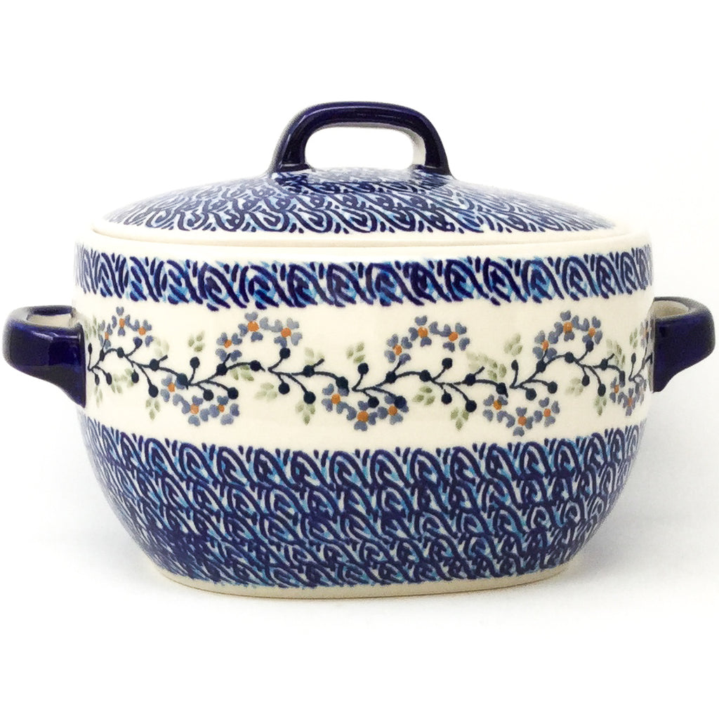Covered Keeper 3 qt in Blue Meadow