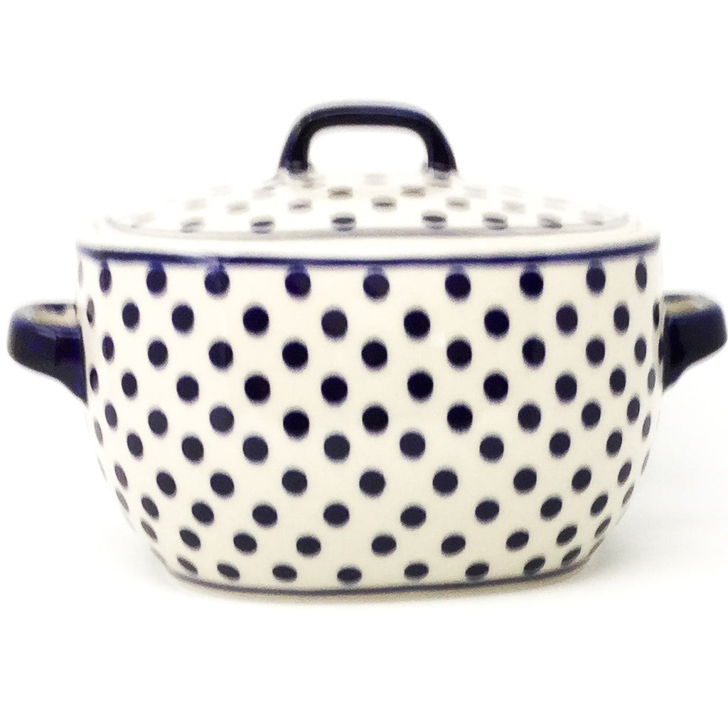 Covered Keeper 3 qt in Blue Polka-Dot