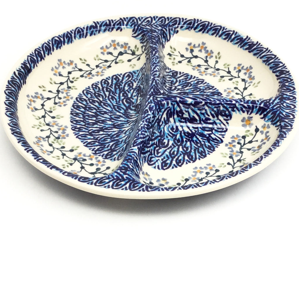 Divided Plate in Blue Meadow