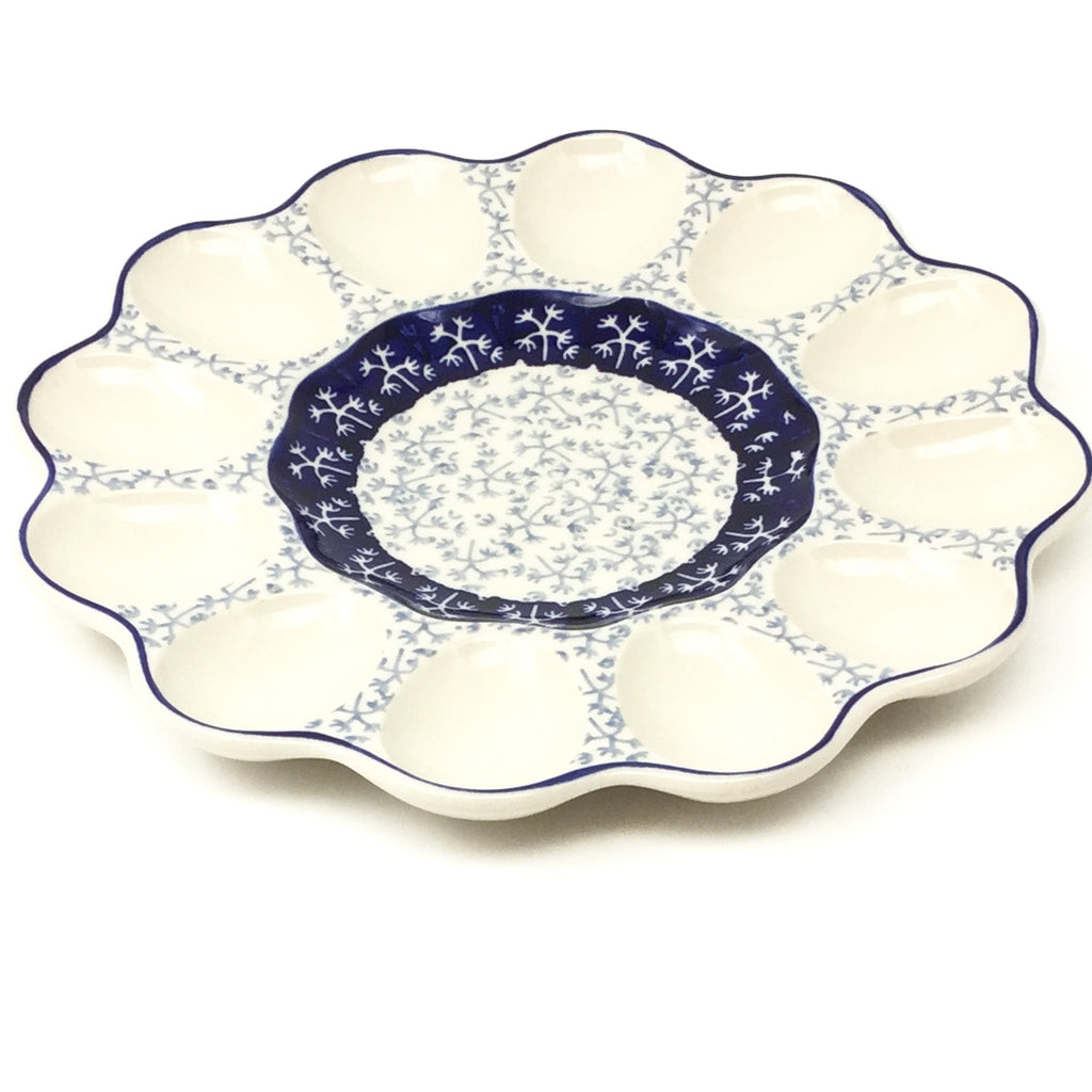 Deviled Egg Plate in Light & Dark Snowflake