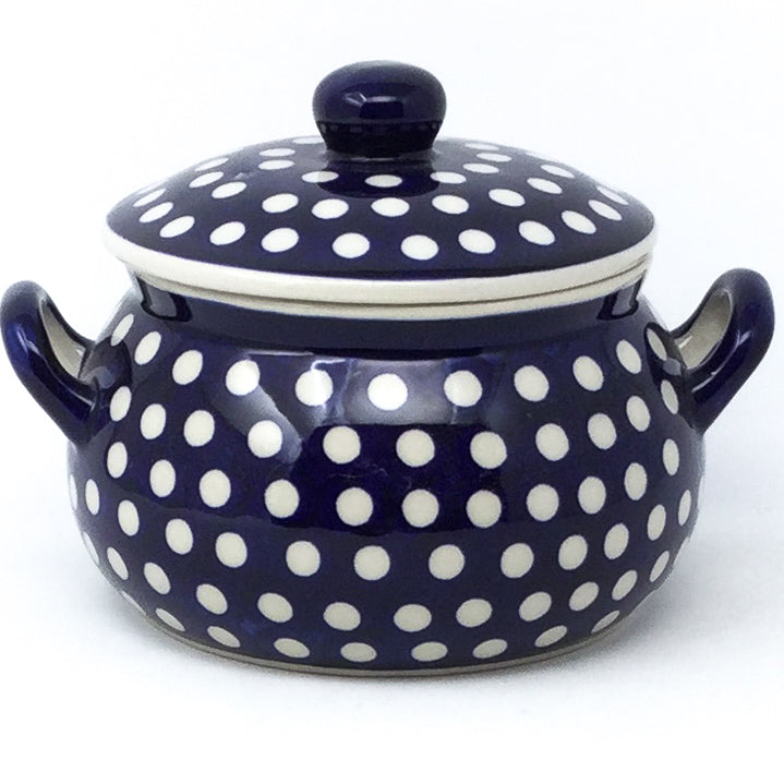 Covered Tureen 1 qt in White Polka-Dot